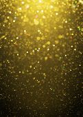 pic of glitter sparkle  - Defocused gold sparkle glitter lights background - JPG