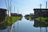 image of shan  - Inle lake floating village Shan state Myanmar - JPG