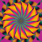 pic of hypnotizing  - A hypnotic fractal image that functions as a mandala - JPG