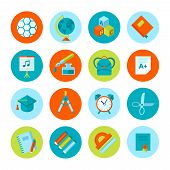 stock photo of protractor  - Set of school and education icons - JPG