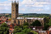 stock photo of church-of-england  - The Collegiate Church of St Mary in the town of Warwick - JPG