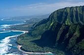 pic of na  - The green cliffs of the Na Pali Coast on Hawaii - JPG