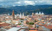 image of cloudy  - View of the city of Cuenca - JPG
