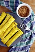 stock photo of filipino  - Photo of Filipino food delicacy called suman - JPG