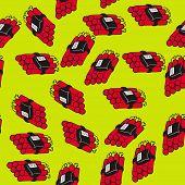 stock photo of time-bomb  - dynamite bomb seamless pattern cartoon illustration - JPG