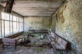 picture of nuclear disaster  - waiting room in no - JPG