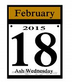 image of repentance  - a 2015 calendar date ash wednesday icon - JPG