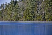 picture of frozen  - ice covered lake  - JPG