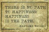 pic of buddha  - Happiness is the path  - JPG