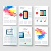 pic of brochure design  - Vector brochure design templates collection - JPG