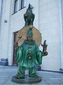 image of circus clown  - The photo monument circus clown established in Minsk - JPG