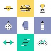 stock photo of unhealthy lifestyle  - Fitness sport and healthy lifestyle - JPG