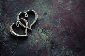 foto of two hearts  - Two hearts connected - JPG