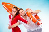 pic of lifeguard  - Accident prevention and water rescue - JPG