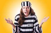 pic of prison uniform  - Convict criminal in striped uniform - JPG