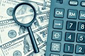 stock photo of financial audit  - Business accounting or financial audit  - JPG