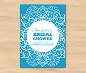 stock photo of bridal shower  - Bridal shower invitation - JPG