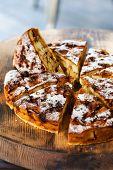 image of sponge-cake  - Authentic sponge cake with raisins cinnamon and apples - JPG