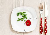 image of impaler  - Peas on a plate - JPG