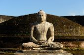 image of vihara  - Polonnaruwa ruin was the second capital of Sri Lanka after the destruction of Polonnaruwa - JPG