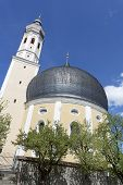 pic of bavaria  - Small church with onion tower in Bavaria - JPG