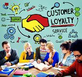 pic of loyalty  - Customer Loyalty Satisfaction Support Strategy Service Concept - JPG