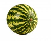 pic of melon  - Three water melons on white background - JPG