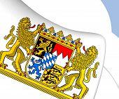 stock photo of bavaria  - Bavaria Coat of Arms Germany - JPG