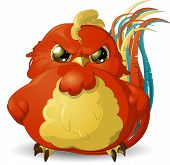 picture of angry  - pretty angry bird painted on a white background - JPG