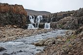 foto of taimyr  - Photo waterfall on the Putorana plateau - JPG
