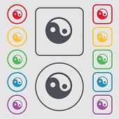 stock photo of ying yang  - Ying yang icon sign - JPG