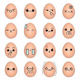 stock photo of emoticon  - Egg emoticon  - JPG