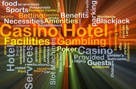 picture of poker machine  - Background concept wordcloud illustration of casino hotel glowing light - JPG
