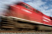 stock photo of high-speed train  - a high speed train with motion blur - JPG