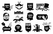 Постер, плакат: Set of Barber shop logos and designs