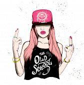 Rap attractive girl poster