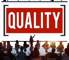 stock photo of status  - Quality Grade Level Guarantee Value Status Concept - JPG