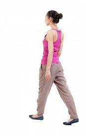 picture of hair motion  - back view of walking  woman - JPG