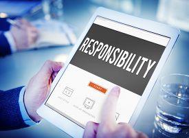 stock photo of trustworthiness  - Responsibility Duty Obligation Job Trustworthy Concept - JPG