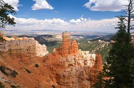 picture of hoodoo  - Sandstone hoodoos of Bryce Canyon National Park Utah USA - JPG