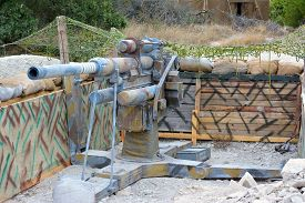 image of cannon  - The model of German cannon of period of the second world war - JPG