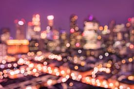 pic of marsala  - Bokeh filter of Singapore skyline from above during the blue hour  - JPG