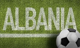 picture of albania  - Albania Ball in a Soccer field - JPG