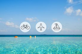 stock photo of transportation icons  - Transportation Transport Icon Travel Journey Trip Concept - JPG