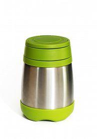 stock photo of thermos  - Green thermos travel tumbler - JPG