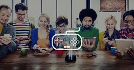 picture of controller  - Game Controller Control Leisure Fun Technology Joystick Concept - JPG