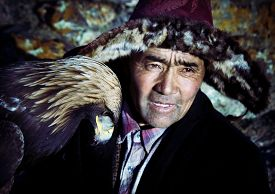 foto of mongolian  - Mongolian Man with Traditional Lifestyles Culture Concept - JPG