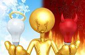 Good Idea Or Bad Idea The Original 3D Character Illustration poster