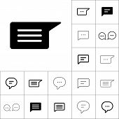 Chat, Speech, Comment, Chatting Icon On White Background, Dialbo poster