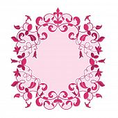 Pretty floral background frame